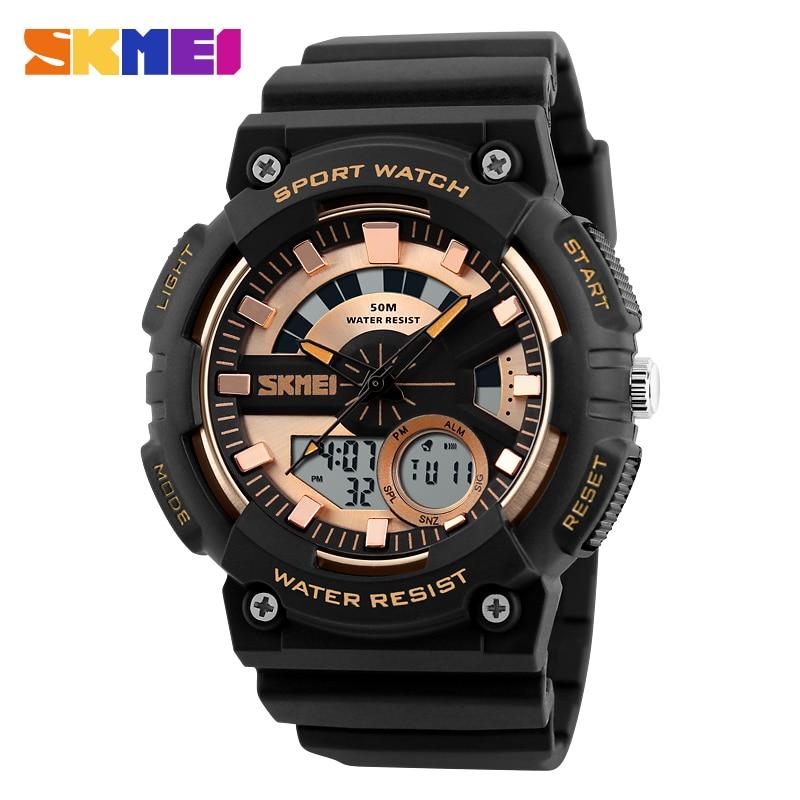SKMEI Army Military Outdoor Sport Watch Men Watches Quartz Digital Wristwatch 50M Waterproof Male Clock Relogios Masculino 1235 цена и фото