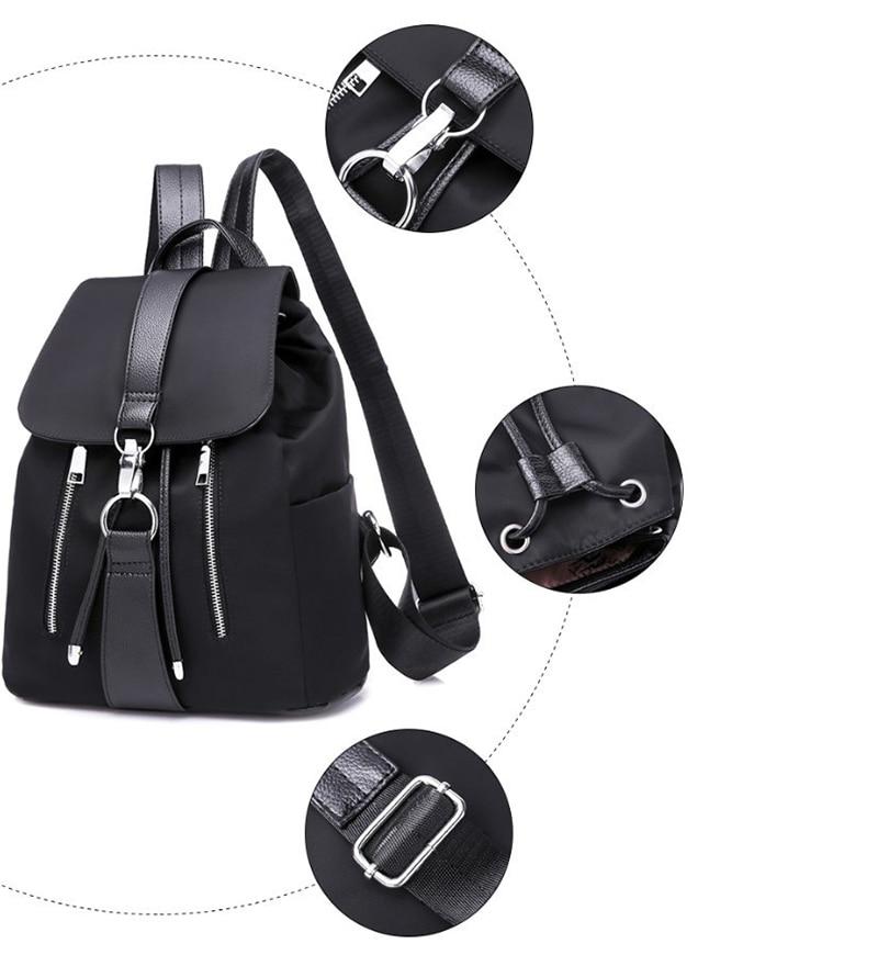 HTB1Q6ybO4jaK1RjSZFAq6zdLFXaQ Women Backpack Designer High Quality Nylon Women Bag Fashion School Bags Large Capacity Knapsack Casual Travel Bags