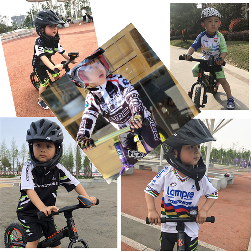 2018 Small Boys Cycling Jersey Set for Kids Team Children Cycling Kits  Sports Outdoor MTB Mini Bicycle Children s Clothing Sets-in Cycling Sets  from Sports ... 2ed66b2cb