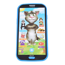 3D Talking cat Russian Language the Speaking toy repeats Kids Early Childhood Educational Electronic Interactive Tablet Toys(China)