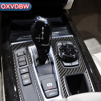 For bmw f15 f16 accessories Carbon Fiber Stickers Decorative Inside of the car Control Gear Shift Panel x5 x6 2014 2017