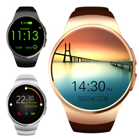 Round Screen Smart Watch Men Support SIM TF Card Bluetooth Wristwatch for Android IOS iphone Heart