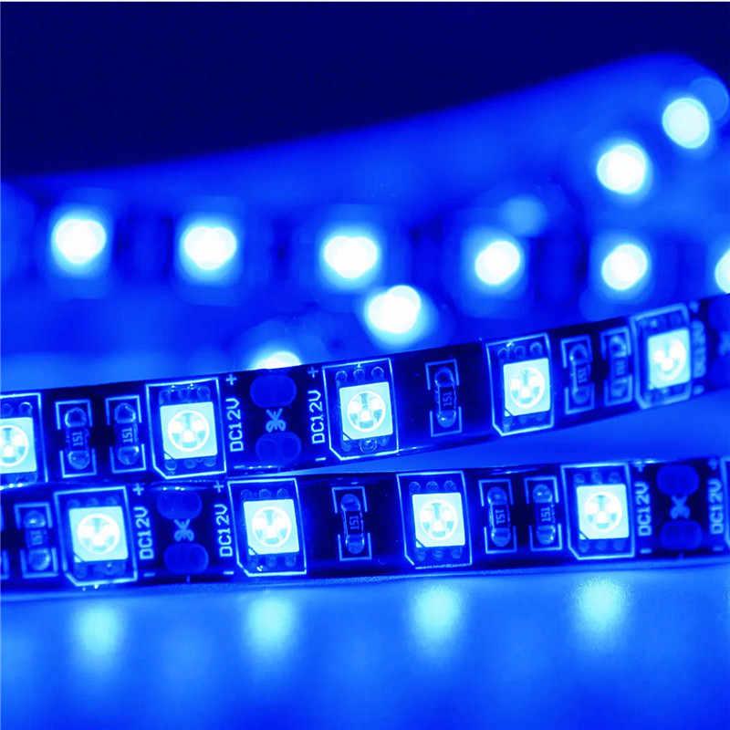1 m 2 m 3 m 5 m Nero PCB RGB 5050 LED nastro Bianco/Caldo Bianco/Blu /giallo HA CONDOTTO La Striscia SMD DC12V IP30 NON Impermeabile 60LED/m Stringhe di Led