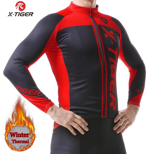 X-TIGER Winter Thermal Fleece Cycling Jerseys Keep Warm Cycling Coat Pro  MTB Long Sleeve Men Bike Sportswear Roupa Ciclismo 2019 67b612be4