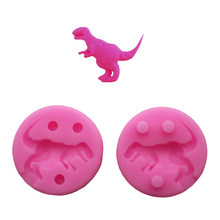3D Dinosaur mold Tyrannosaurus rex cartoon liquid silicone mold soap Fondant cake decoration biscuits clay kitchen baking tools(China)