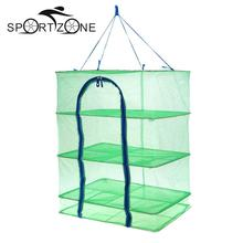 56 x 40 x 63cm Drying Fishing Net 4 Layers Drying Rack Folding Hanging Mesh Fish Dishes Dryer Net PE Hanger Fish Net Pesca