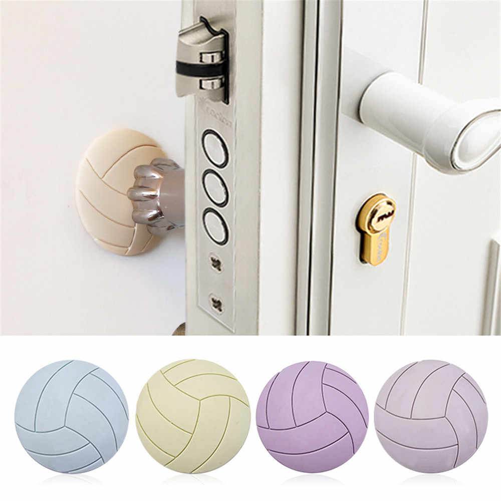 Deur Tochtstopper Door Handle Bumper Rubber Lock Crash Mat Pad Wall Protector Guard Door Stopper Deur Tocht Stopper Porte Feuille Homme Dropship