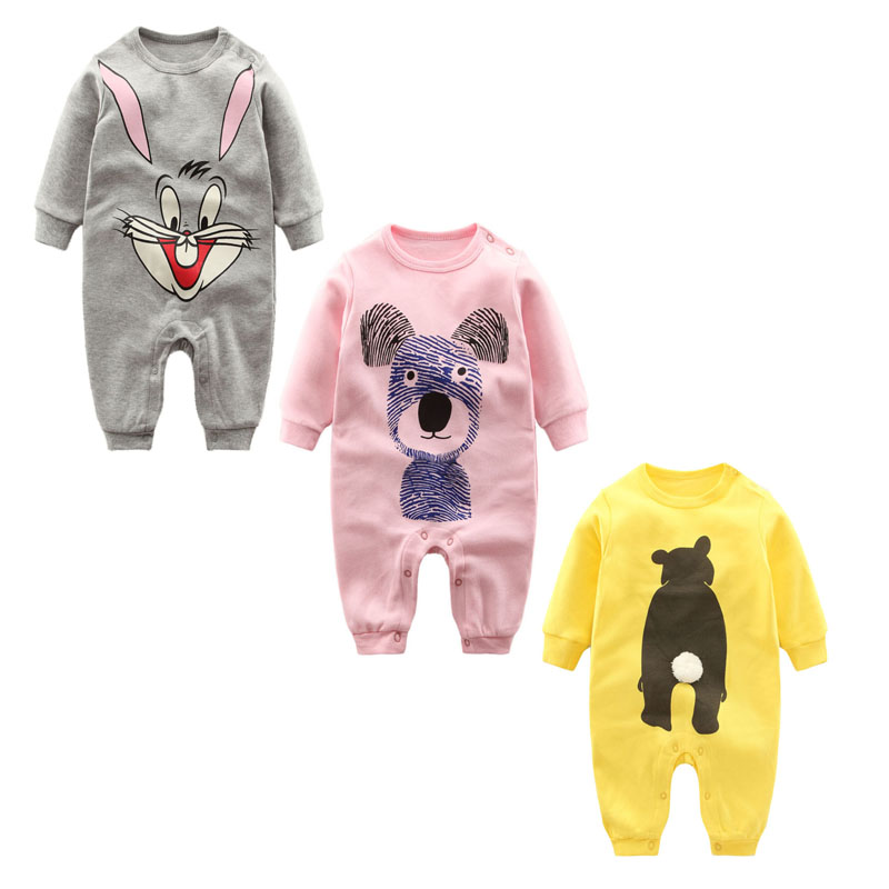 c6ef3d8b3610 Newborn Baby Clothes 2018 long sleeve Baby Rompers winter Overalls for Baby  Rompers Boy Girls infant clothes Ropa Bebes Jumpsuit
