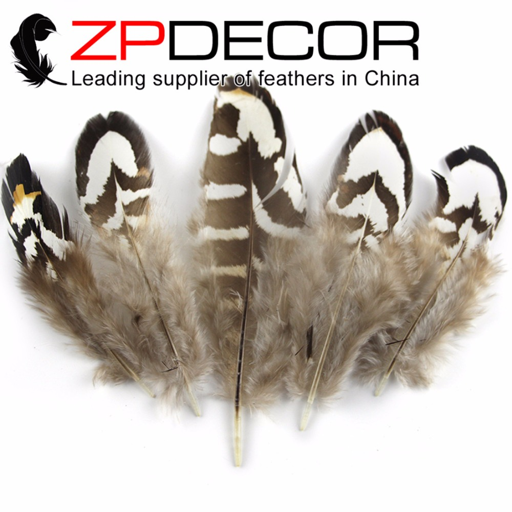 ZPDECOR Exporting Good Quality  6-10cm 200pieces/lot Tiny Black and White Reeves Venery Pheasant Plumage Feathers