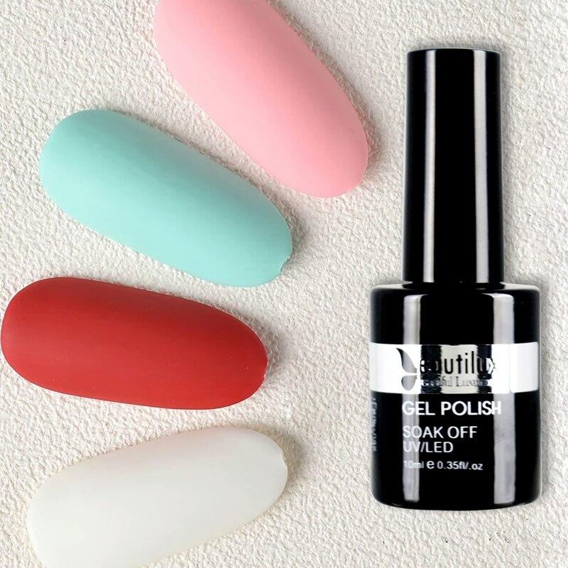 Beautilux Velvet Rubber Matte Top Coat Finish Soak Off Gel Nail Polish UV LED Gels Nail Varnish Lacquer Nails Art 10ml