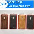 Para oneplus 2 patrón de caja de la batería 100% de alta calidad de madera de bambú ultra fino protector duro de la contraportada para oneplus two