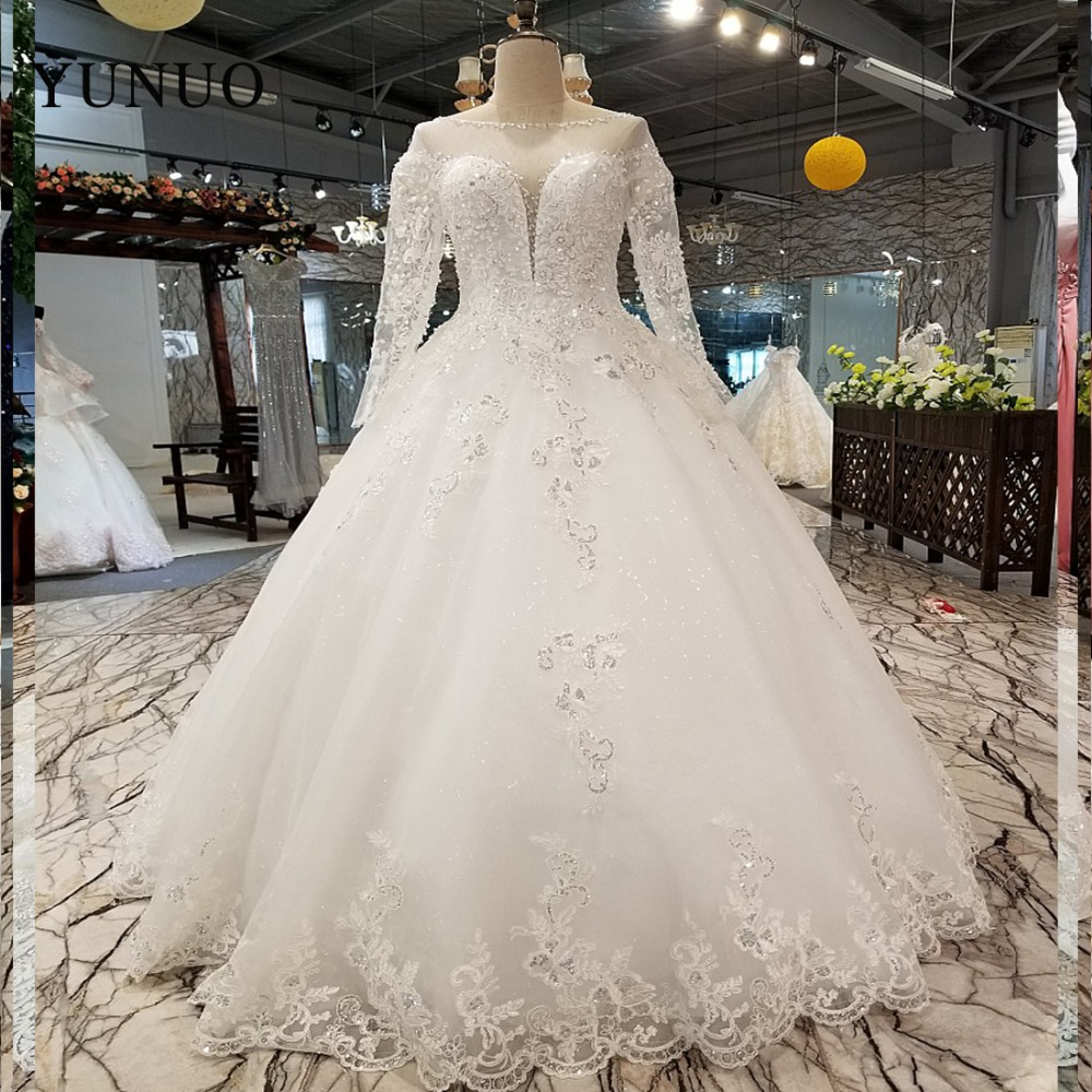 Vestido De Noiva 2017 New Elegant Lace Applique Tulle