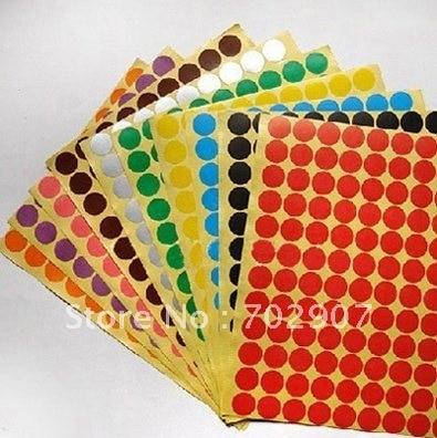 И: 3000 шт./лот Красный Наклейки Круг Этикетки Круглый 19 мм