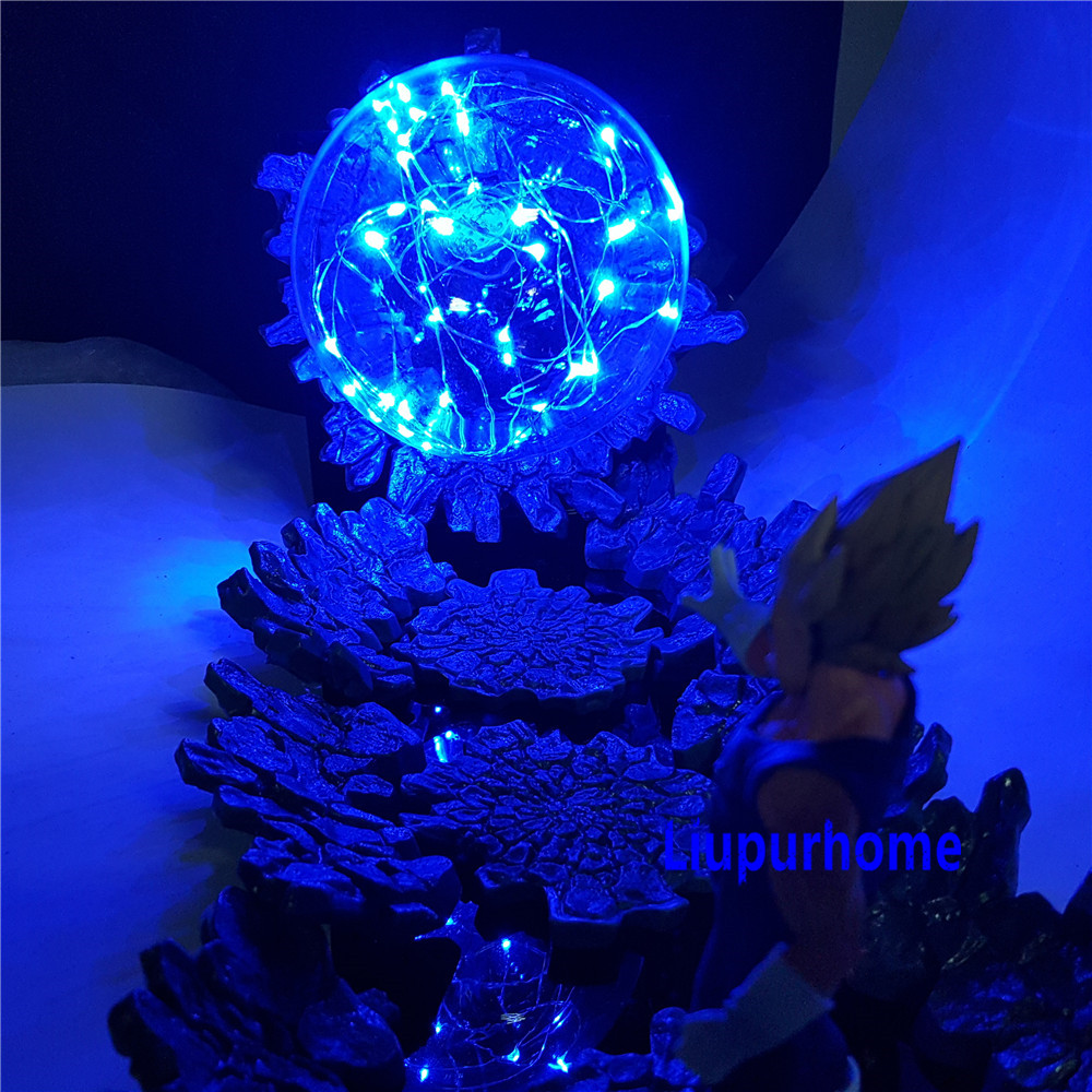 Lampara Dragon Ball Z Vegeta Super Saiyan LED Light  Action Figures Evil Vegeta Power Up Decorative Lamp LED Bulb for Gifts MY1