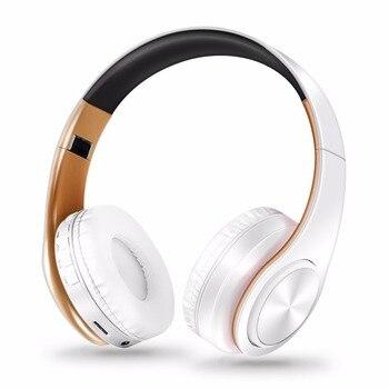 AYVVPII casque bluetooth sans perte, casque de lecture avec microphone, casque stéréo sans fil, musique pour Iphone, Samsung, Xiaomi, sports, mp3 1