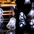 Solar Christmas Lights 20 LED Solar Light String Jingle Bell Fairy Lights for Outdoor, Gardens, Homes, Wedding, Christmas Party