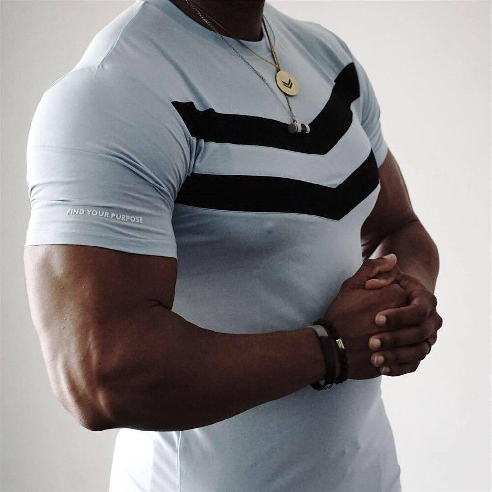 Image 4 - New Men T shirt Cotton Short Sleeves black Undershirt Male Solid stripe Mens Tee Summer Brand Clothing Homme camiseta masculina