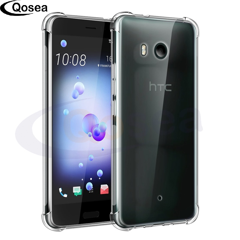 Qosea Телефон чехол для HTC U11 случае ультра тонкий прозрачный тонкий мягкий Силиконовый ТПУ кожи для HTC U11 водителя защитная крышка