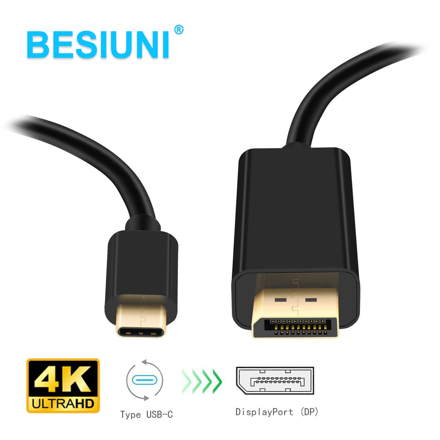 USB-C Type C USB 3.1 Male to HDMI 1.8m 1080P 4KHDTV Adapter Cable for Laptop
