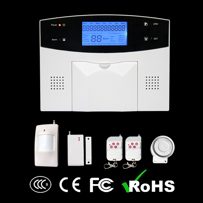 GZGMET 99 Wireless 4 Wired Zones Dual Network GSM PSTN Phone App Alarm Panel Remote Control Security System GSM HOME ALARM