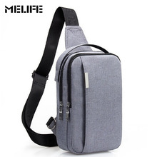 MELIFE Casual Men s Chest Bag Packs Canvas Sling Bags Fashion Men and Women Messenger Bags