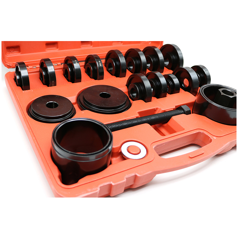 23 pcs FWD Front Wheel Bearing Press Tool Removal Adapter Puller Pulley Kit HOT