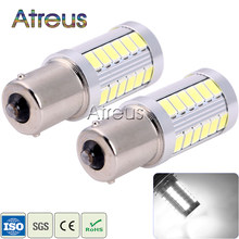 Atreus 2pcs Car LED Lamps 1156 BA15S 7506 P21W 33 smd 5630 5730 Tail Bulb Turn Signals auto Reverse Lamp Daytime Running Light(China)