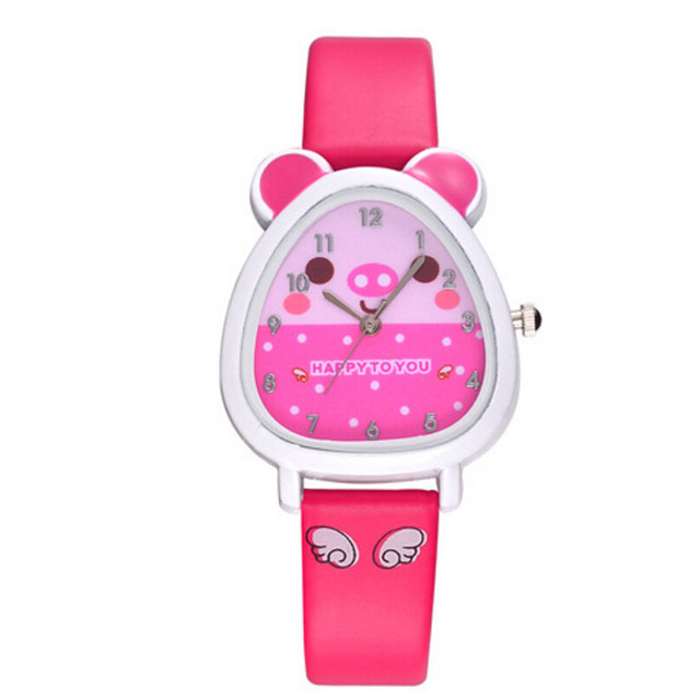 2018 Lovely Animal Design Boy Girl Children Quartz Watch Kids Birthday Gift Freeshipping Wholesale Mnycxen D