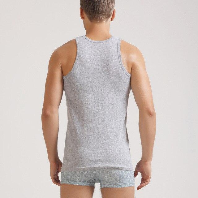 2019 Summer Cotton Gyms   Tank     Tops   Men Sleeveless Tanktops For Boys Vest