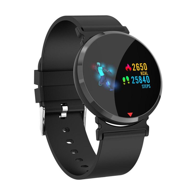Monitor de Freqüência Cardíaca Relógio Inteligente Homens de Cor Tela IPS smartwatch Pedômetro Calorie Aptidão Relógio Pressão Arterial Relógio Do Esporte