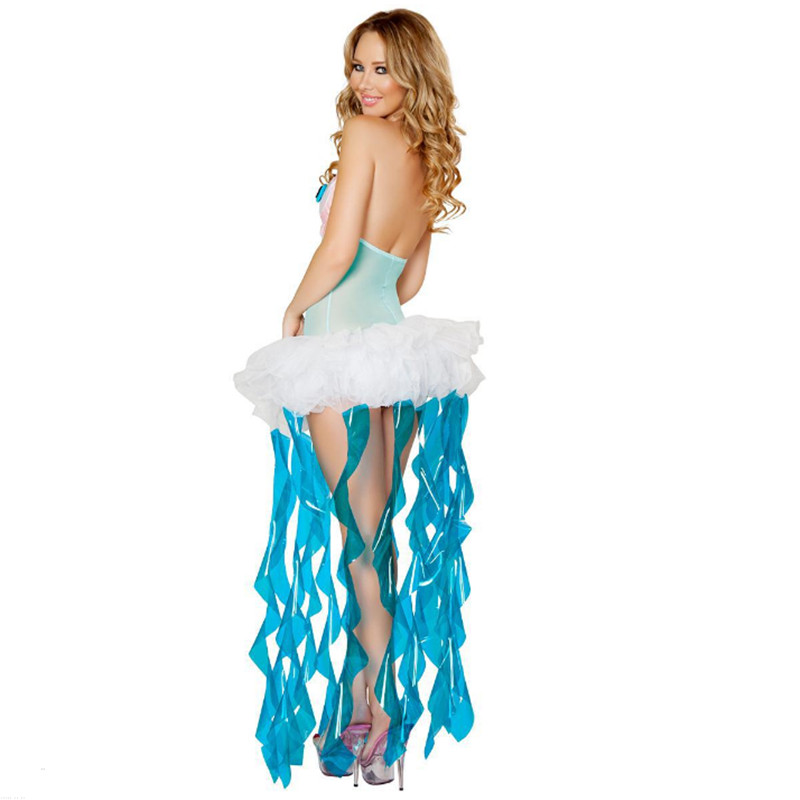 Newest Adult Mermaid Dress Halloween Sexy fish animal Cosplay Costume Night  club DS Costume Masquerade Uniform Party clothing 1 2 ... e7a5bfefd277