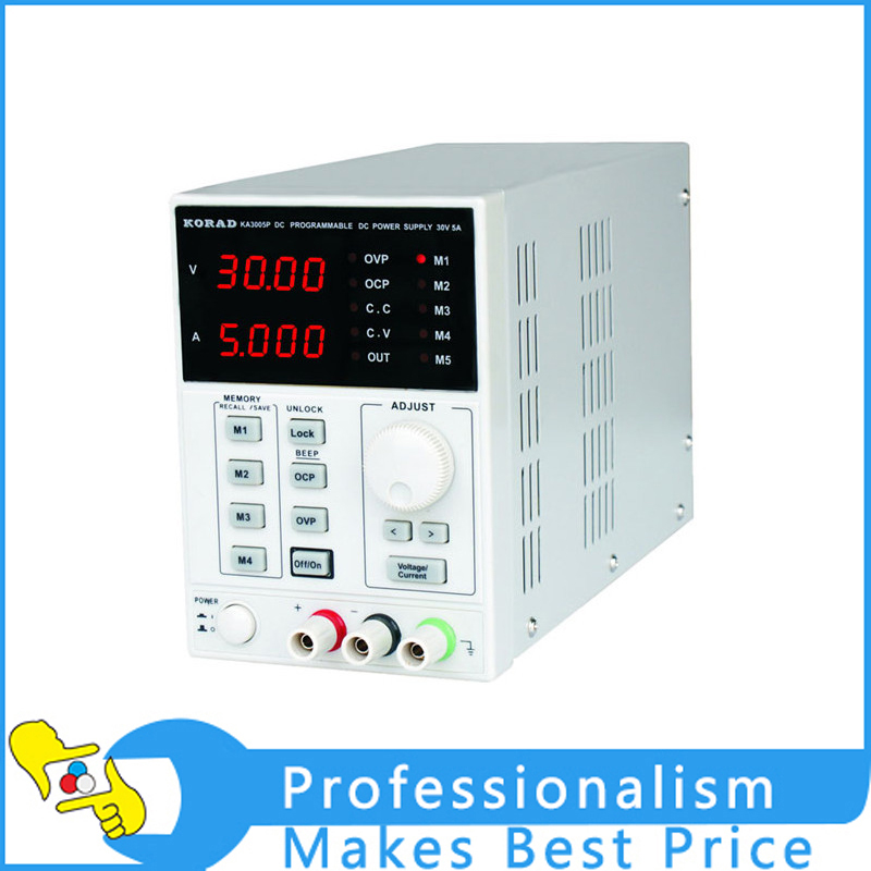 New High Precision Programmable Adjustable Digital DC Power Supply KORAD KA3005P 30V/5A and USB Connect Computer 220V uni t utp1305 dc power high precision programmable adjustable digital dc power supply 32v 5a usb connect computer eu 230v