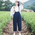 ZANZEA Rompers Womens Sexy Strapless Sleeveless Casual Jumpsuit 2017 Autumn Retro Solid Wide Leg Pants Loose Overalls Playsuits