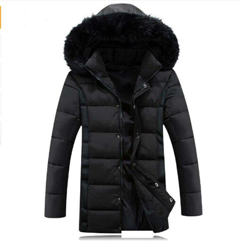 Winter Jacket Men Coats Warm Casual Wear Winter Long Cotton Jackets Mens Natural Fur Collar Down Plus Size Jacket For Men 5XL