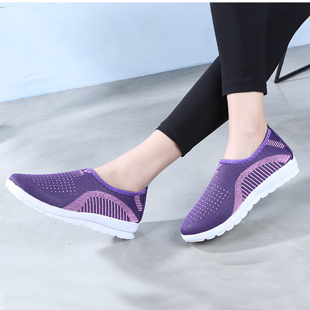 HTB1Q71LajDuK1RjSszdq6xGLpXab MUQGEW Women's Mesh Flat shoes patchwork slip on Cotton Casual shoes for woman Walking Stripe Sneakers Loafers Soft Shoes zapato