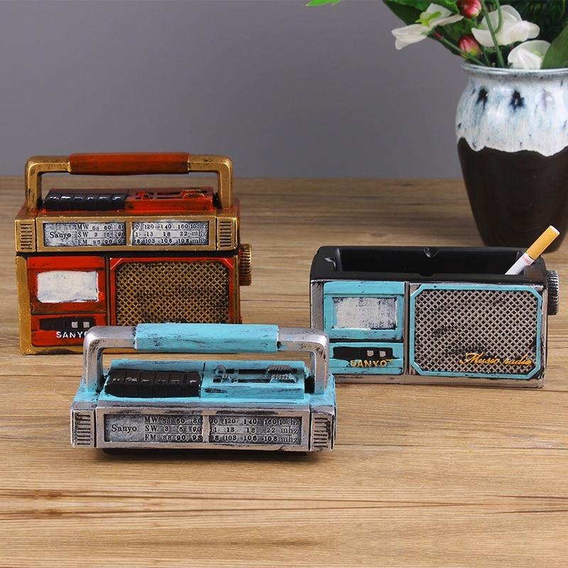 Cendrier en résine radio rétro classique | Cendrier créatif nostalgique, style électrique créatif, home bar shop, décoration