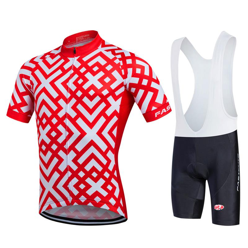 2017 Léto Pro Team Cyklistika Jersey Ropa Ciclismo Prodyšné MTB Cyklistické oblečení Cyklistické dresy S Silica GEL Šortky a Fast003