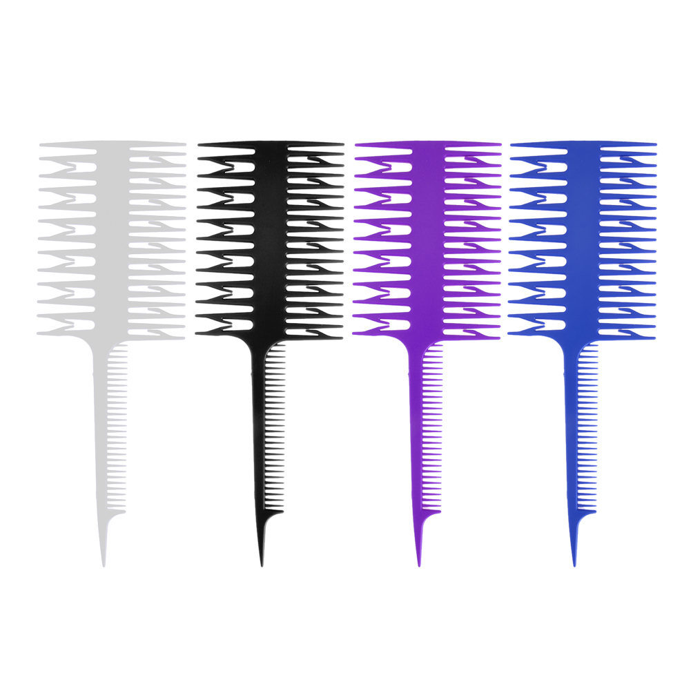 Hair Salon Professional Hair Dyeing Comb 3 Way Hairdressing Styling Hair Coloring Depart Piece Dyeing Comb Brush Tool
