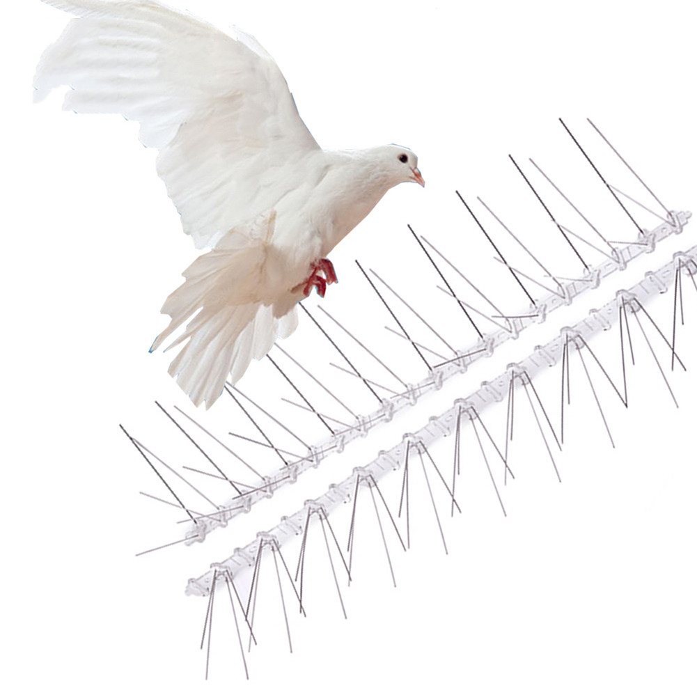 6pcs 50cm Bird Repeller Environmentally Stainless Steel Pigeon Nails Anti-Bird Anti-Dove Spikes Bird Scarer Spikes Pest Control
