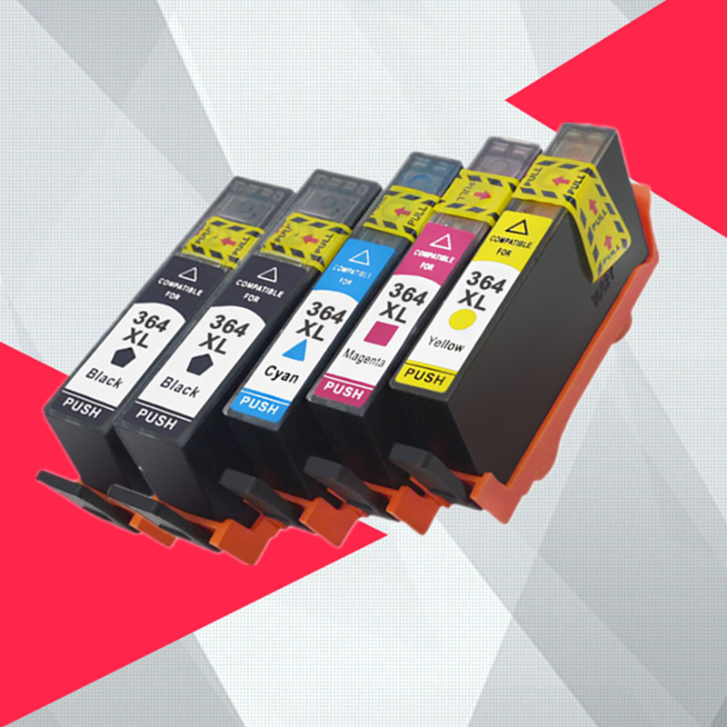 5PK Compatible Ink Cartridge Replacement for <font><b>HP</b></font> <font><b>364</b></font> XL 364xl for Deskjet 3070A 7510 photosmart 5510 5515 5520 7520 B109a 6510 image