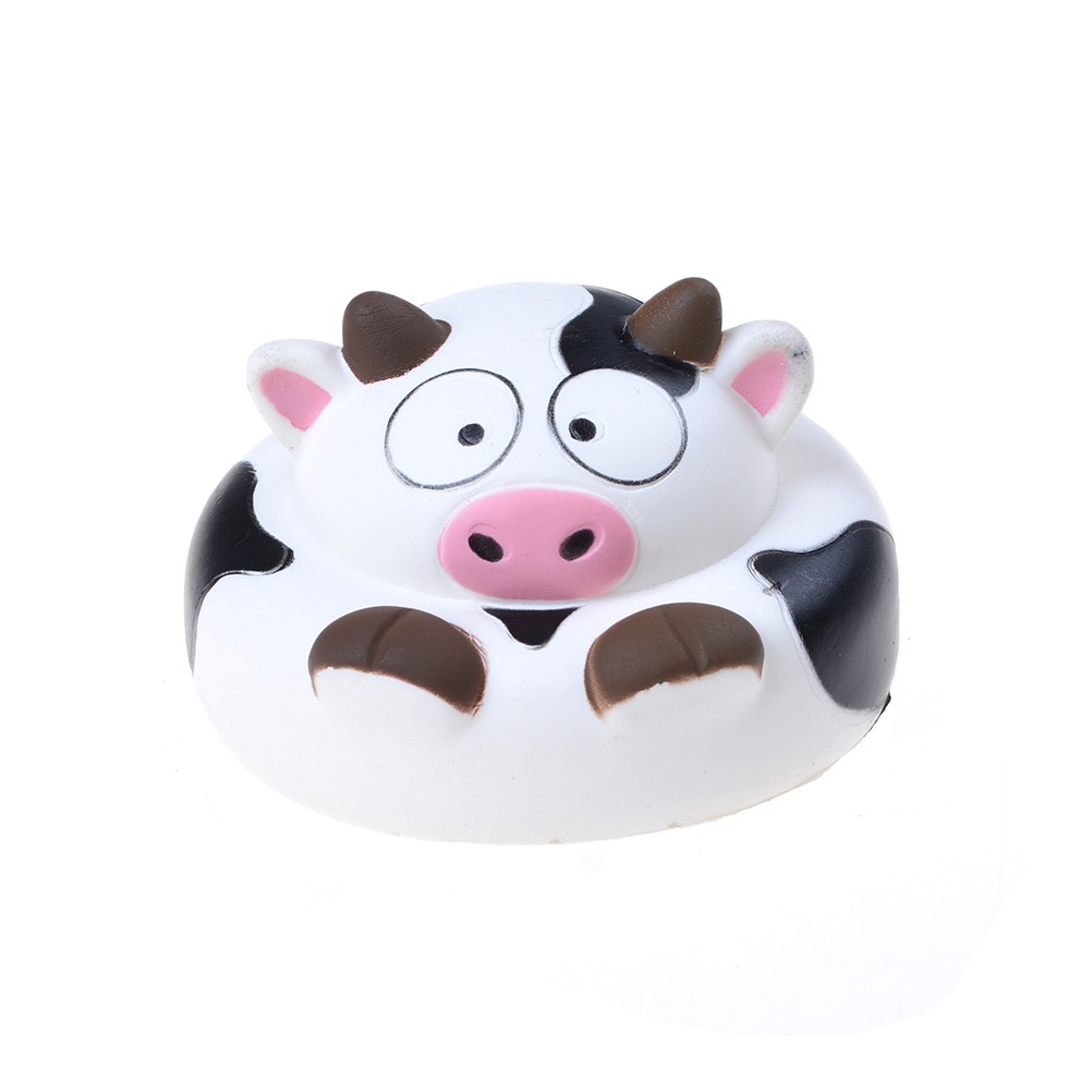10CM Fashion Jumbo Cow Squishy Charm Bread Soft Animal Slow Rising Stress Release Toy
