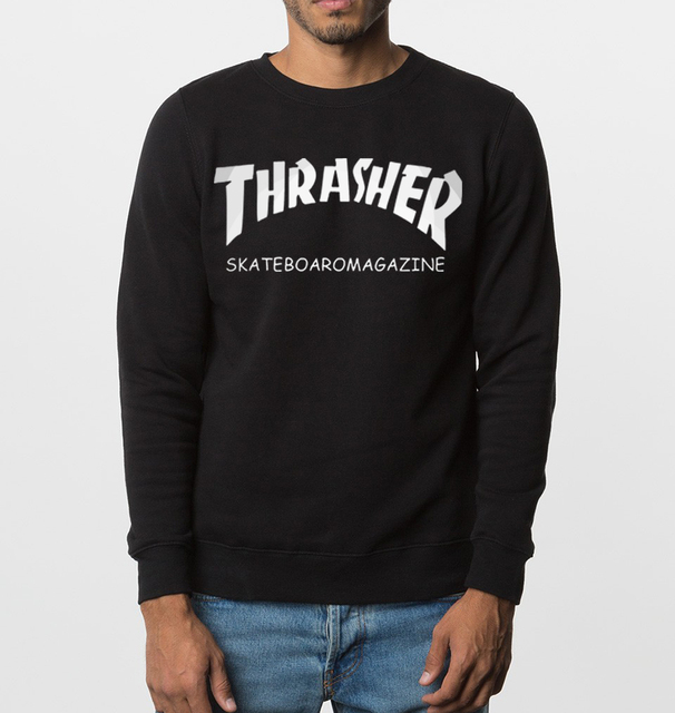 brand clothing trasher sweatshirts 2017 new autumn winter fashion men hoodies hip hop hoody harajuku cotton casual tracksuit