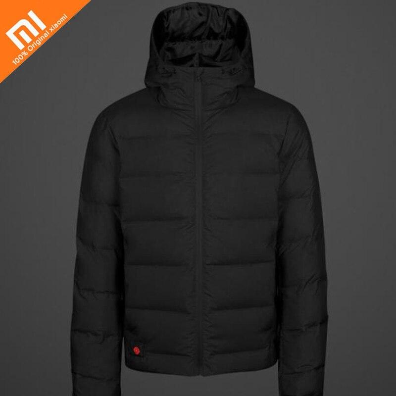 Xiaomi norma mijia controllo della temperatura di riscaldamento giù giacca 4 file di controllo della temperatura 38 a 53 gradi 90% piuma d'oca bianca con USB