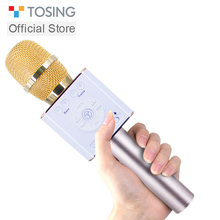 Tosing 04 Wireless Karaoke Microphone Bluetooth Speaker 2 in 1 Handheld Sing Recording Portable KTV Player for iOS/Android vs Q9