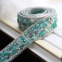 2 Cm Wide Gem Diamond Chain Hair Material Wedding Dress Skirt Drilling Collar Belt DIY Accessories