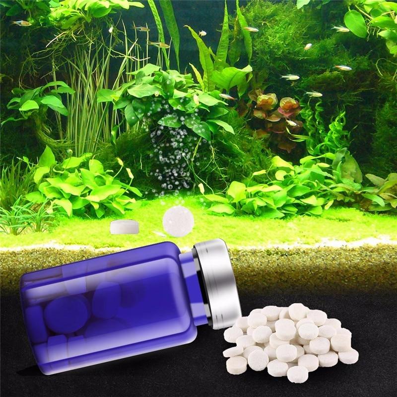 CO2 Tablet For Waterweed Water Grass Aquarium Plants Aquatic Leaf Float Grass Fish Tank CO2 Carbon Dioxide Diffuser 36pcs 60pcs