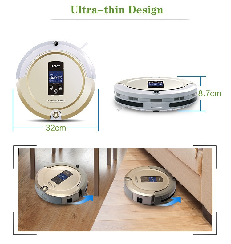 Ship from USA RU China Vaccume Cleaner Multifunction Sweep Vacuum Mop Sterilize LCD Touch Screen Schedule Auto Charge in Vacuum Cleaners from Home Appliances