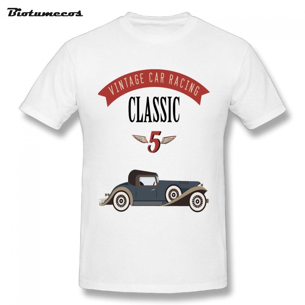Desain t shirt unik - Hot Pria T Shirt Vintage Mobil Klasik Retro Gelembung Mobil Dicetak Unik Desain Tees Kemeja Top