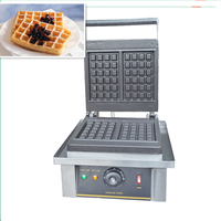 220V Commercial Waffle Maker Non Stick Waffle Machine Baker Professional Electric Muffin Maker Temperature Control Free