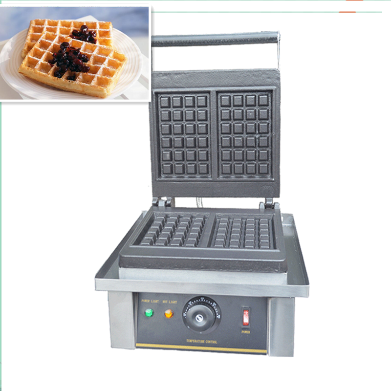110V 220V Commercial Electric Waffle Baker Maker Non-Stick Professional Electric Muffin Maker Temperature Control Free Shipping freeshipping restaurant cooking mahine baking cake muffin baker electric commercial waffle maker